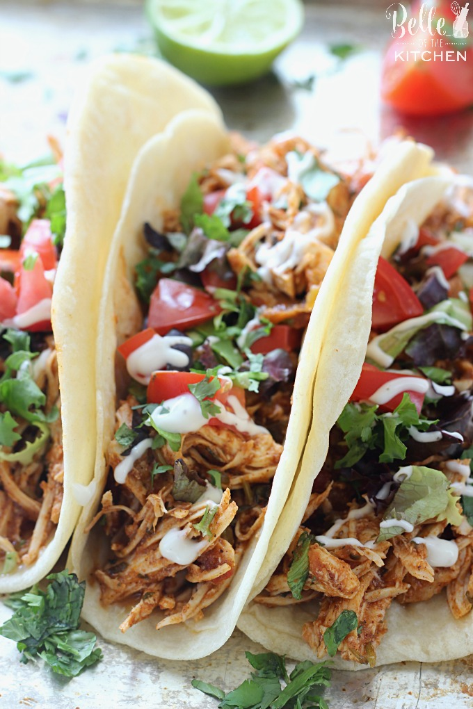 cilantro-lime-salsa-chicken-tacos-slow-cooker